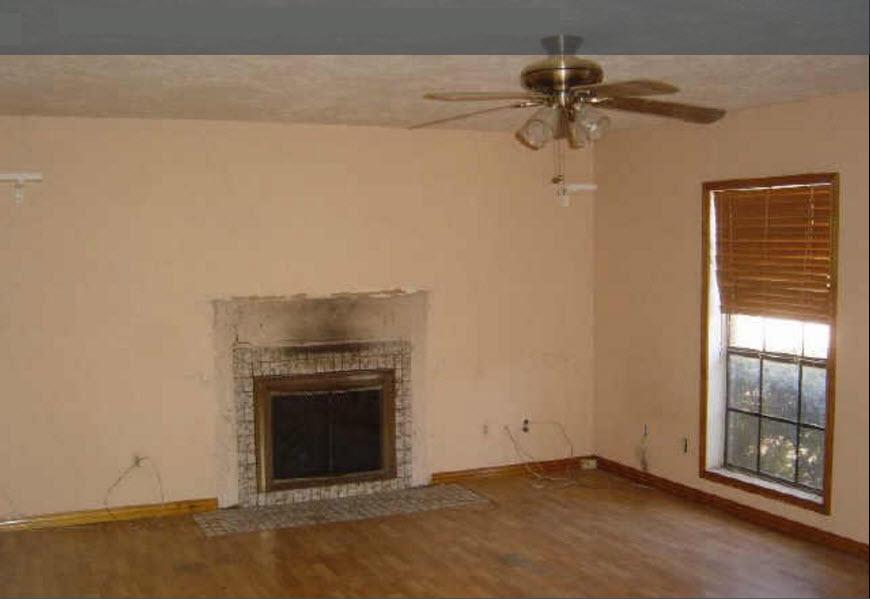 before family room renovation